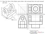 Easy 3d Drawings for Beginners Pdf Engineering Drawing Tutorials orthographic Drawing with Sectional
