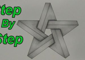 Easy 3d Drawings On Paper Step by Step How to Draw An Impossible Star Step by Step 3d Star Impossible Shapes