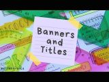Easy Banner Drawing Easy Banner Ideas for Headings and School Notes D Easy Ways