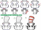 Easy Cartoon Zebra Drawing How to Draw the Cat In the Hat Cute Kawaii Chibi Version Easy