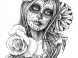 Easy Day Of the Dead Skull Drawings Tattoos Of Day Od Dead Girl Drawing the Sugar Skull Tattoo