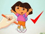 Easy Dora Drawing Draw Dora the Explorer Dora the Explorer Dora Drawing