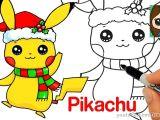 Easy Dora Drawing How to Draw Christmas Pikachu Easy Pokemon Youtube