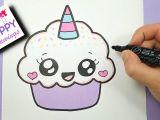 Easy Drawing Cute Youtube How to Draw A Cute Cupcake Unicorn Super Easy and Kawaii Youtube