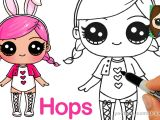 Easy Drawing Cute Youtube How to Draw A Lol Surprise Doll Hops Youtube