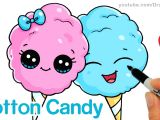 Easy Drawing Cute Youtube How to Draw Cotton Candy Easy Cartoon Food Youtube