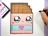 Easy Drawing Cute Youtube How to Draw Cute Chocolate Bar with A Love Heart Super Easy Youtube