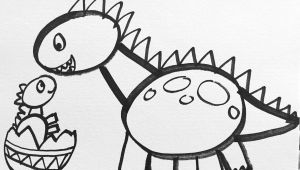 Easy Drawing for 6 Year Olds Tutorial How to Draw A Dinosaur for Kids This is A Simple Lesson