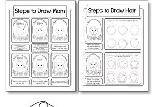 Easy Drawing for Teachers Day Mother S Day Card Drawing Mom Directed Drawing with Choices Art