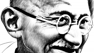 Easy Drawing Gandhiji Ink Drawing Of Mahatma Gandhi Portraits I Admire In 2019