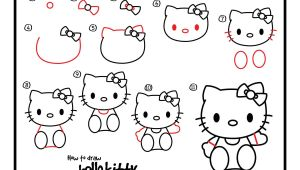 Easy Drawing Hello Kitty How to Draw Hello Kitty Easy Drawing Pinterest Drawings Hello