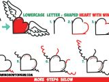 Easy Drawing Letters How to Draw Heart with Wings From Lowercase Letter R Shapes Easy