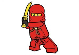 Easy Drawing Ninjago Como Desenhar O Kai De Lego Ninjago Personagem How to Draw Kai