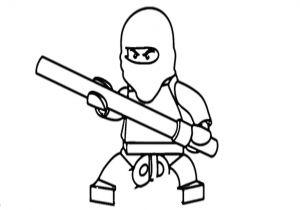 Easy Drawing Ninjago How to Draw Kai Ninjago From Lego Ninjago Youtube