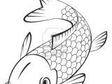 Easy Drawing Of A Fish Stock Vector Koi Fish Drawing Fish Coloring Page Koi