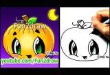 Easy Drawing Of A Pumpkin How to Draw A Pumpkin for Halloween Fun2draw Cartoon