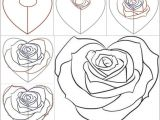Easy Drawing Of A Rose Step by Step How to Draw A Rose Step by Step Easy Video Easy to Draw Rose Luxury