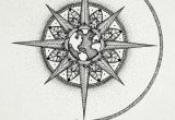 Easy Drawing Of Compass Mandala Compass Google Search Globe Tattoos Compass