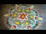 Easy Drawing Rangoli Colourful Peacock Flower Rangoli Kolam Rangoli Designs