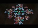 Easy Drawing Rangoli Simple and Easy Flower Design Rangoli 9a 1 Dot S