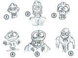 Easy Drawing Zombie Face How to Draw Zombies