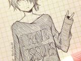 Easy Drawings Anime Characters Cute Anime Drawing tootokki I Have issues Sweater Anime Drawings