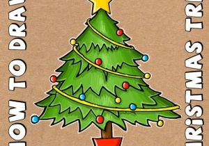 Easy Drawings Christmas Tree How to Draw A Cartoon Christmas Tree for Christmas with Easy Steps