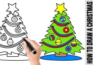 Easy Drawings Christmas Tree How to Draw A Christmas Tree A Cute Easy Drawing Tutorial for