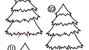 Easy Drawings Christmas Tree How to Draw A Christmas Tree Art for Kids Hub Christmas Winter