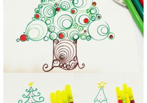 Easy Drawings Christmas Tree Learn How to Draw 3 Types Of Christmas Tree Xmas Easy Christmas
