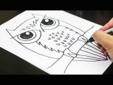 Easy Drawings for 1st Standard How to Draw An Owl Youtube