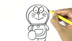 Easy Drawings for 4th Class How to Draw Doraemon In Easy Steps for Children Beginners Youtube