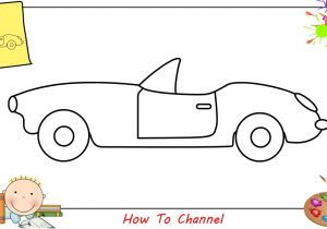 Easy Drawings for Kid Beginners How to Draw A Car Easy Slowly Step by Step for Kids Beginners