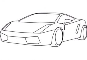 Easy Drawings for Kid Beginners How to Draw A Car Lamborghini Gallardo Easy Step by Step for Kids