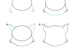 Easy Drawings for Kid Beginners How to Draw A Cat Face Really Easy Drawing Tutorial Malen