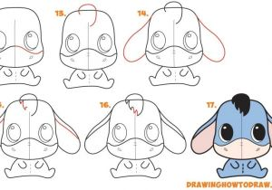 Easy Drawings for Kid Beginners Learn How to Draw A Cute Chibi Kawaii Eeyore Simple Steps Lesson