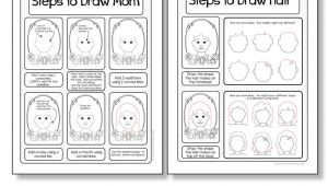 Easy Drawings for Teachers Mother S Day Card Drawing Mom Directed Drawing with Choices Art