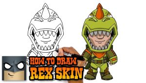 Easy Drawings fortnite How to Draw Rex Skin fortnite Art Tutorial
