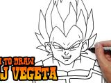 Easy Drawings Goku How to Draw Ssj Vegeta Dragon Ball Z Video Lesson Youtube