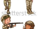 Easy Drawings Gun A Simple Drawing Of the Four Brave soldiers On A White Background