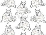 Easy Drawings Husky Dog Dog Pattern Siberian Husky Can Be Used for Wallpaper Pattern