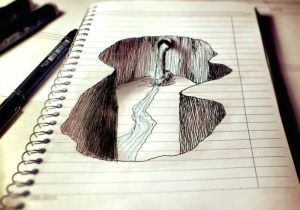 Easy Drawings In 3d Amazing Notebook Doodle Art the Creative Post Amazing Drawings