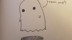 Easy Drawings Markers Art Doodle Ghost Pencil Drawings Sad Easy Simple Marker Pen