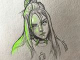 Easy Drawings Of Billie Eilish Billie Eilish Billie Eilish Art Sketches Billie