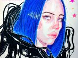 Easy Drawings Of Billie Eilish Billie Eilish Colored Pencil Drawing