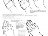 Easy Drawings Of Hands Step by Step Printable How to Draw Praying Hands Worksheet and Lesson How to