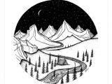 Easy Drawings Of Mountains Mountain Home Art Print Art Prints Minimalist Art