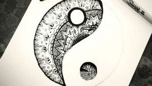 Easy Drawings Of Yin Yangs Tattoo Ideas Geometric Yin Yang Best Tattoos Sketch References