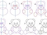 Easy Drawings Of Yoshi How to Draw A Teddy Bear Step by Step Pictures Cool2bkids