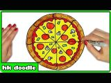 Easy Drawings Pizza 1 How to Draw A Pizza Easy Step by Step Drawing Tutorials for